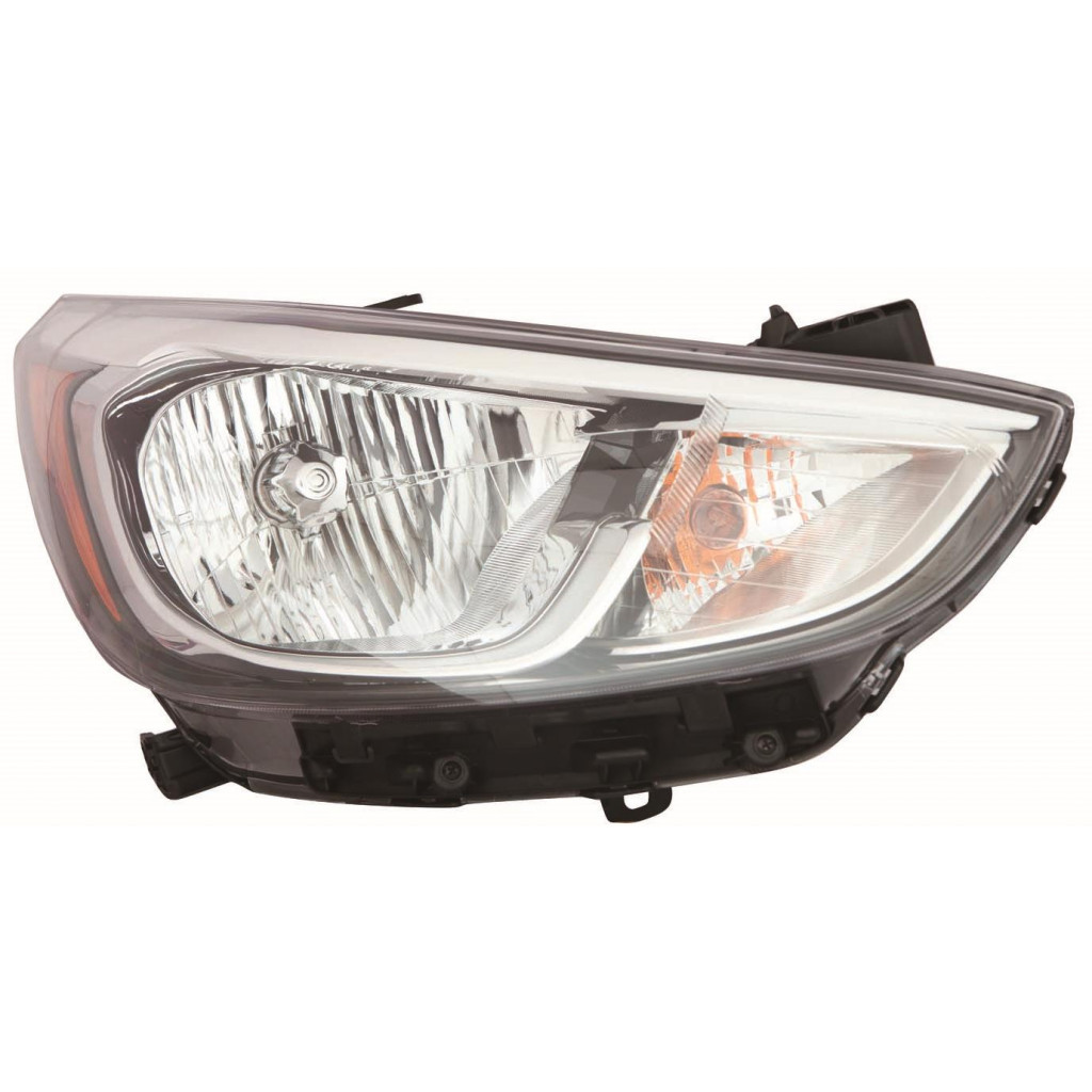 Fits 2007 HYUNDAI ACCENT Head Light Assembly Pair Driver and Passenger Side